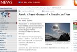 BBC report on marching Australians