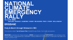National Climate Emergency Rally web site